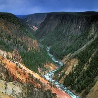 Grand Canyon of the Yellowstone River, gezien vanaf Inspiration Point, Yellowstone Nationaal Park, Wyoming, USA 